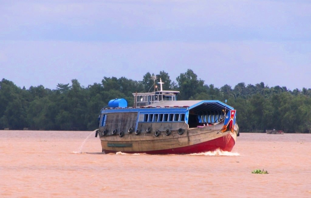 Junk barge on the Mekong River