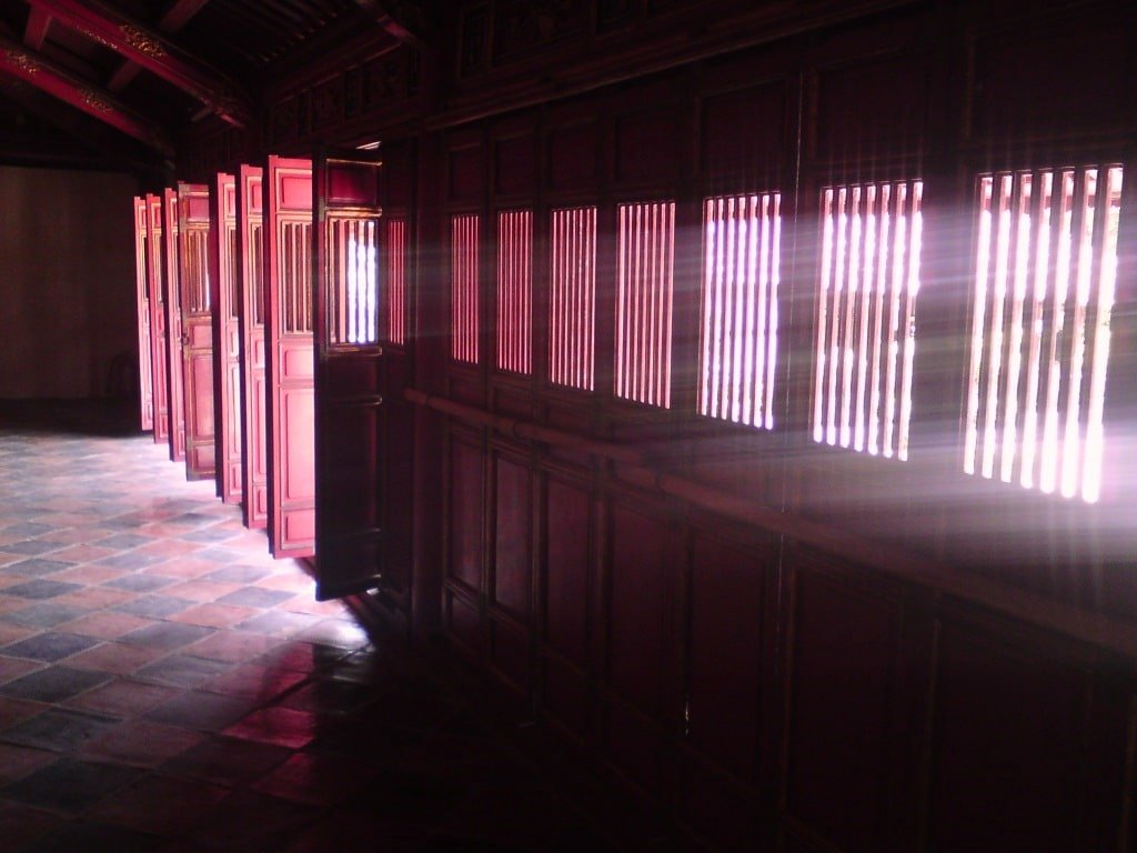 Inside a temple in Hue, Vietnam