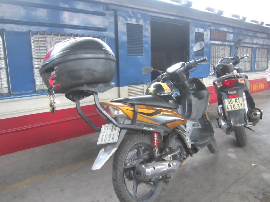 Put your motorbike on the train from Saigon to Phan Thiet