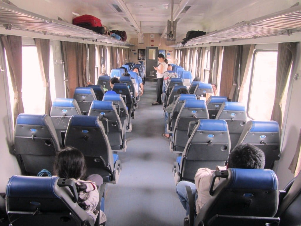 Carriage interior on Saigon to Phan Thiet train