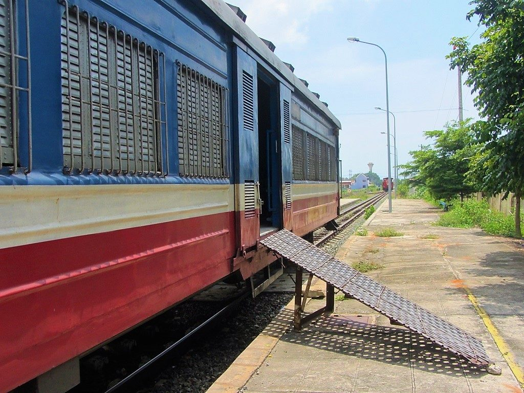 The train from Saigon to Phan Thiet, Vietnam