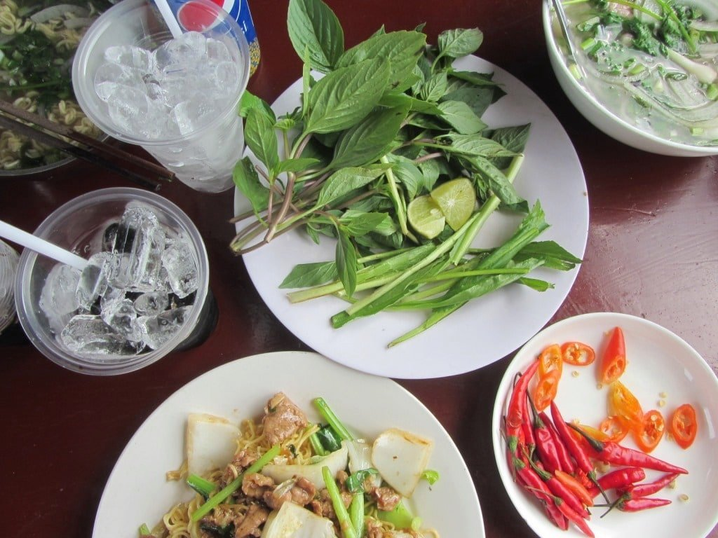 Food and drink of the train from Saigon to Phan Thiet