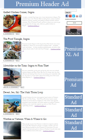 Ad Screenshot Header Banner, Post Sidebar Category Premium Plus, Premium & Standard