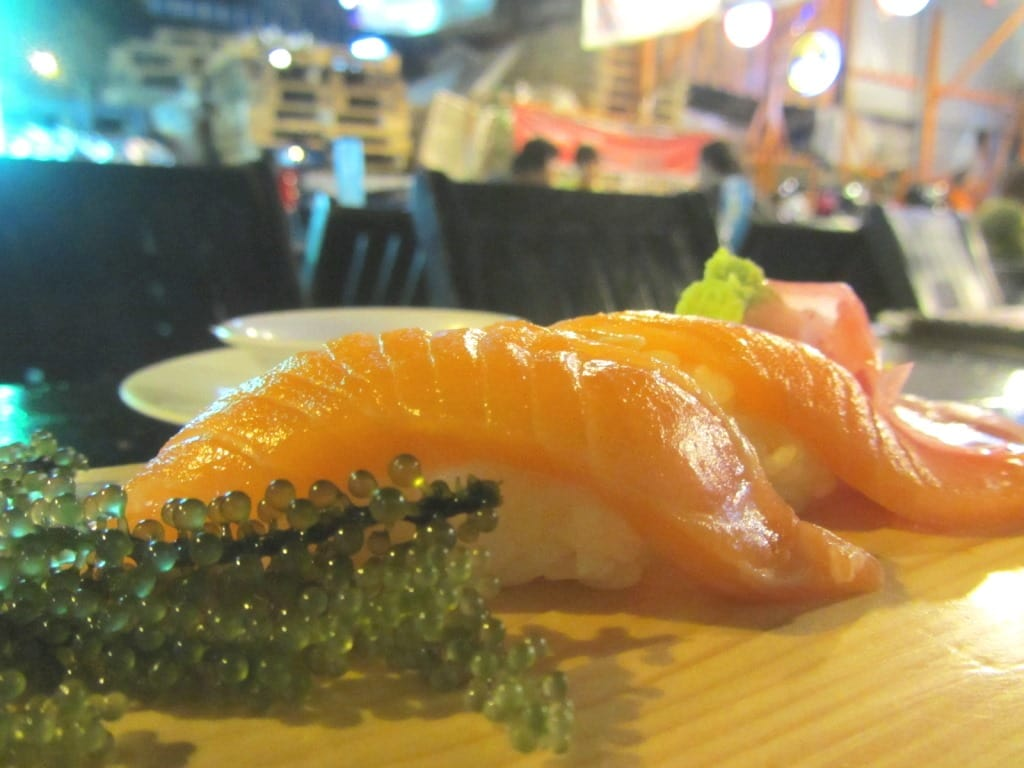Salmon sushi at Sushi Ko, Saigon, Vietnam