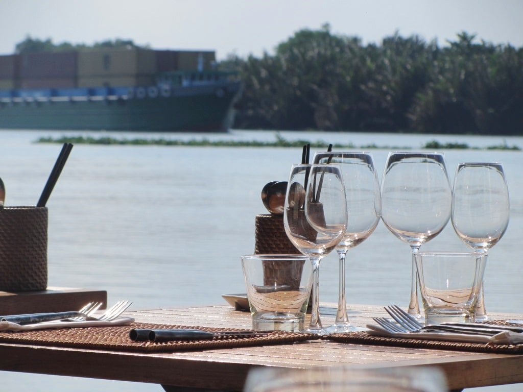 The Deck Bar & Restaurant, on the Saigon River, Vietnam