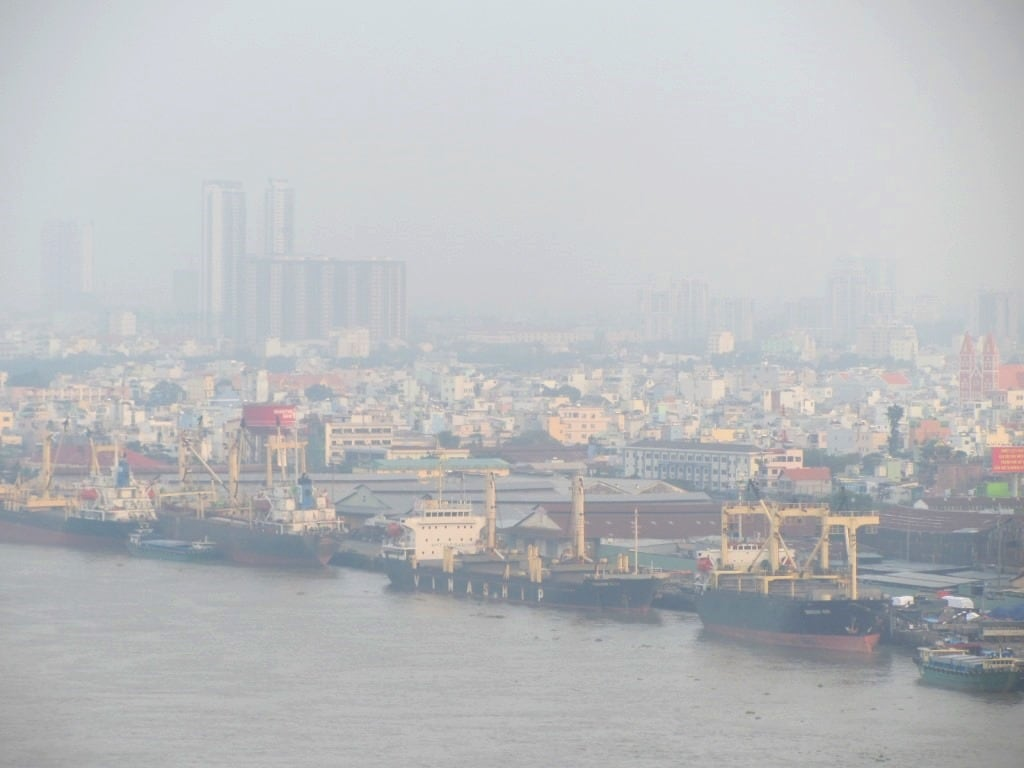 The docks on the Saigon River, Vietnam