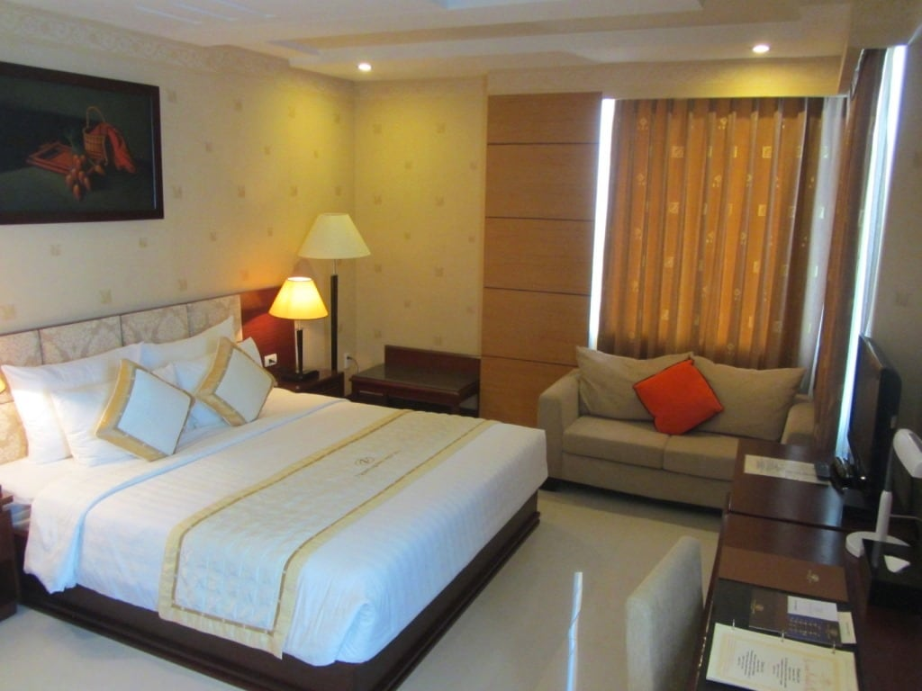 Guest room at the Northern Hotel, Saigon, Vietnam
