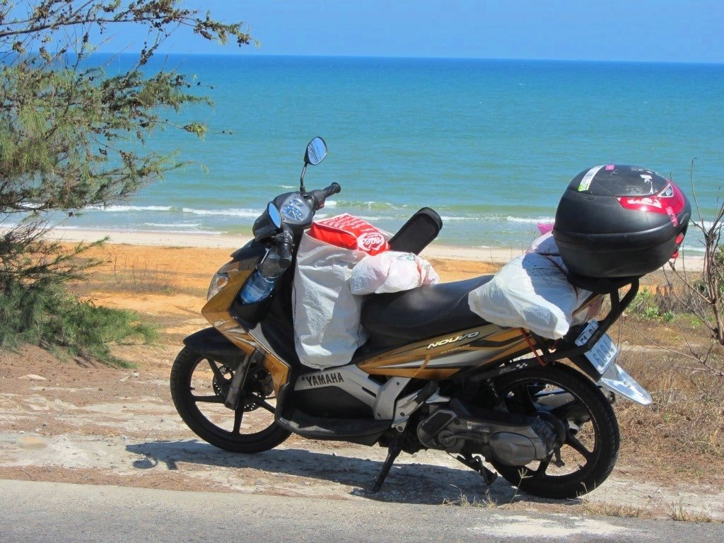 Motorbiking the Ocean Road near Lagi, Vietnam