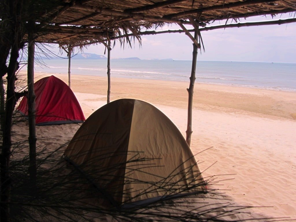 Camping at Long Son Campgrounds, Mui Ne, Vietnam