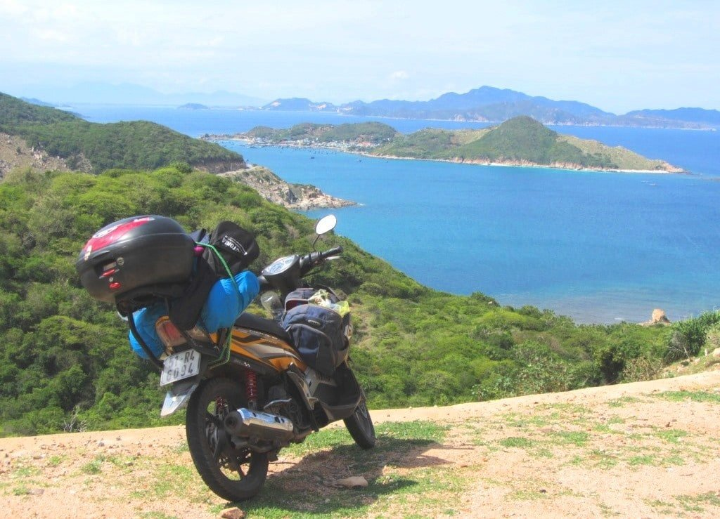 The coast road from Vinh Hy Bay to Cam Ranh Bay, Vietnam