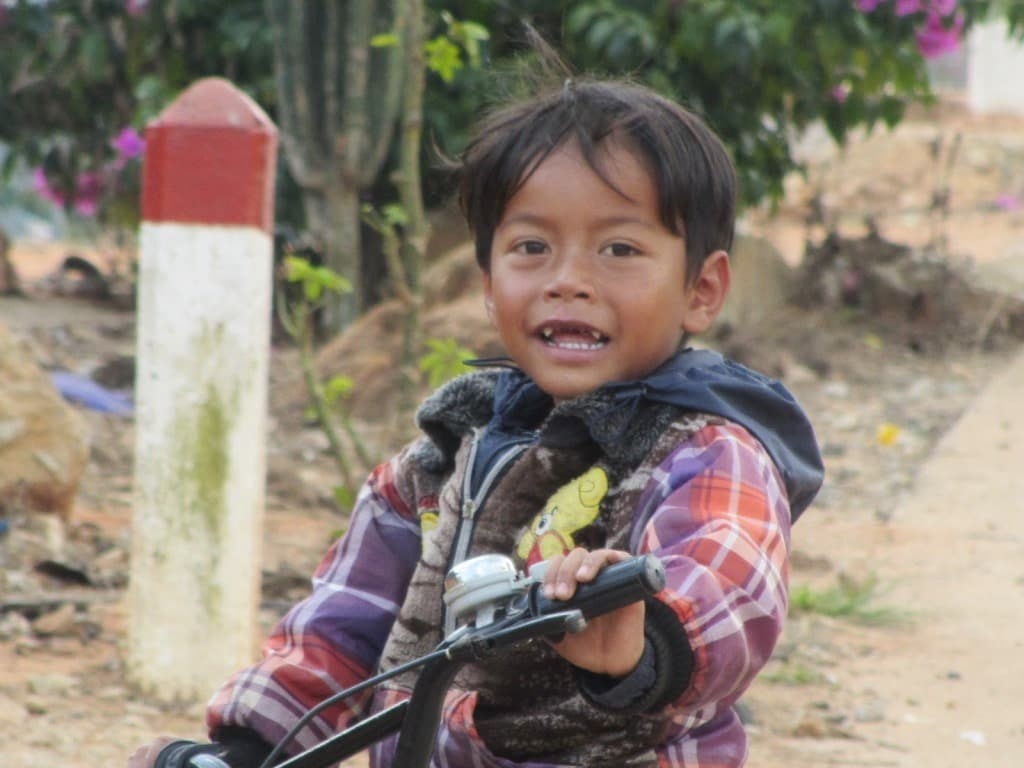 Kid on a bicycle, Dalat, Vietnam