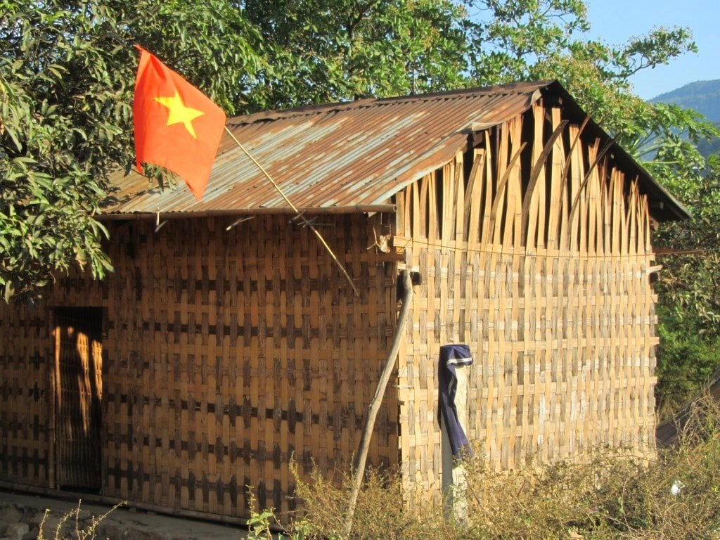 Split bamboo home, Ninh Thuan Province, Vietnam