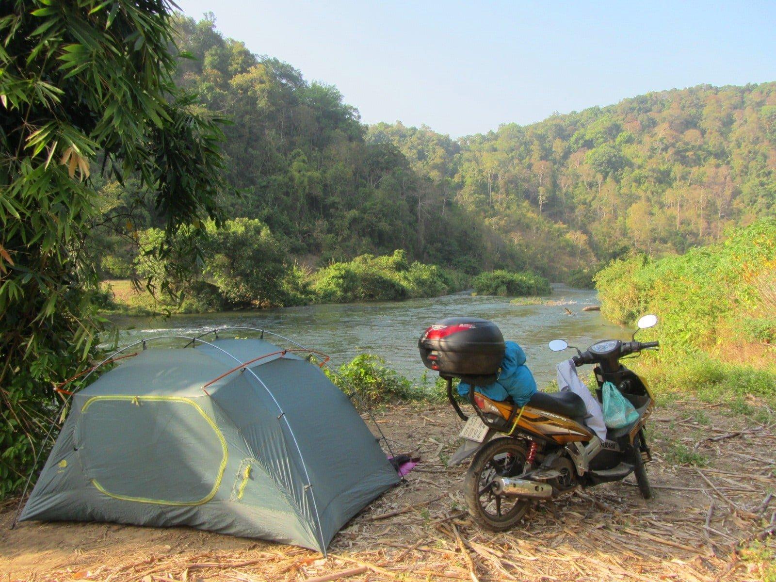 Camping by the Đa Mi River, Binh Thuan Province, Vietnam