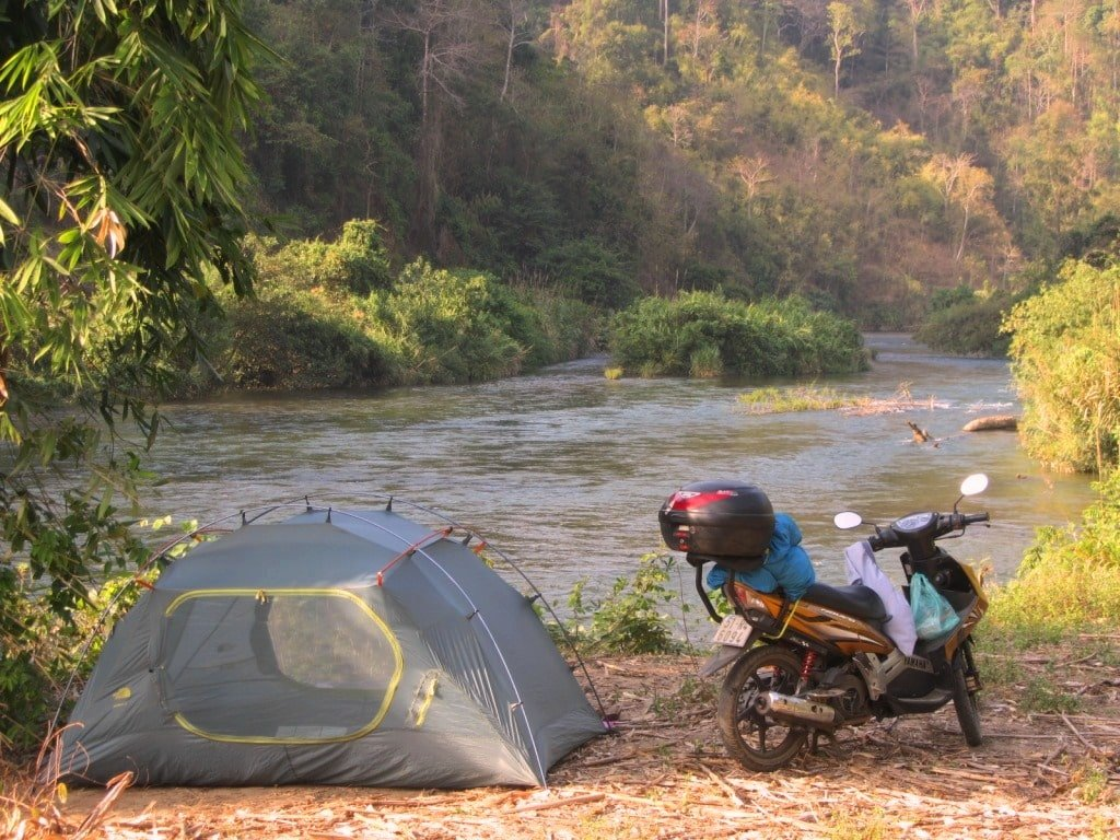 Camping, inland Binh Thuan Province, Vietnam