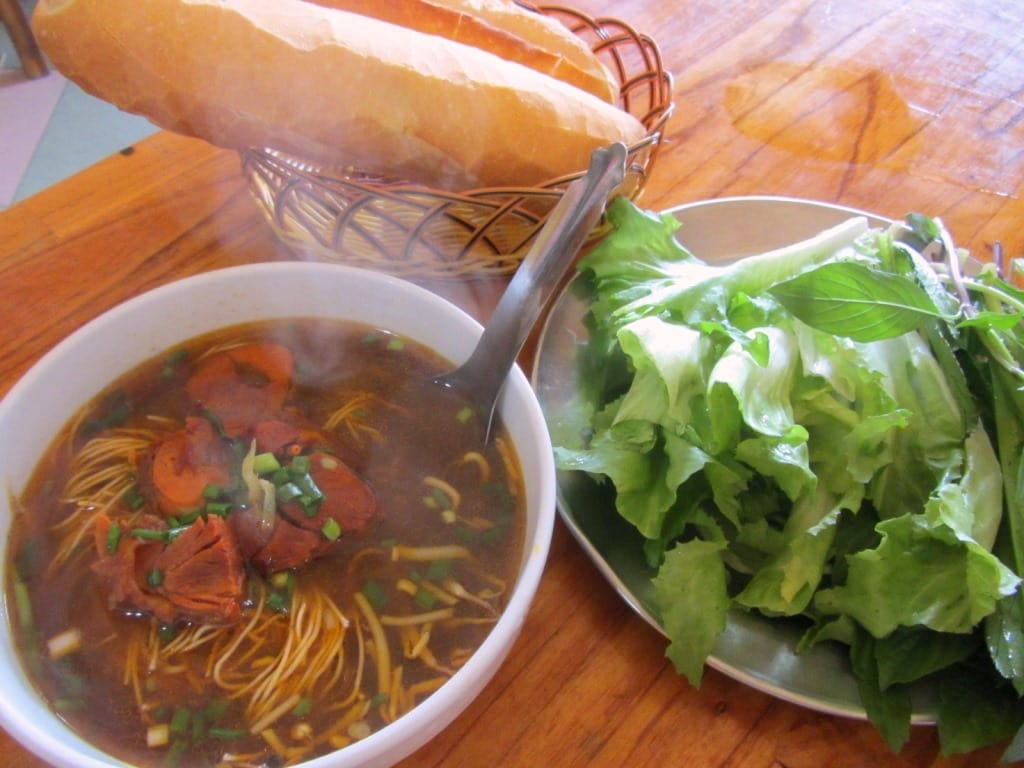 Bò kho (beef stew) at Phở Kết, Bao Loc, Vietnam