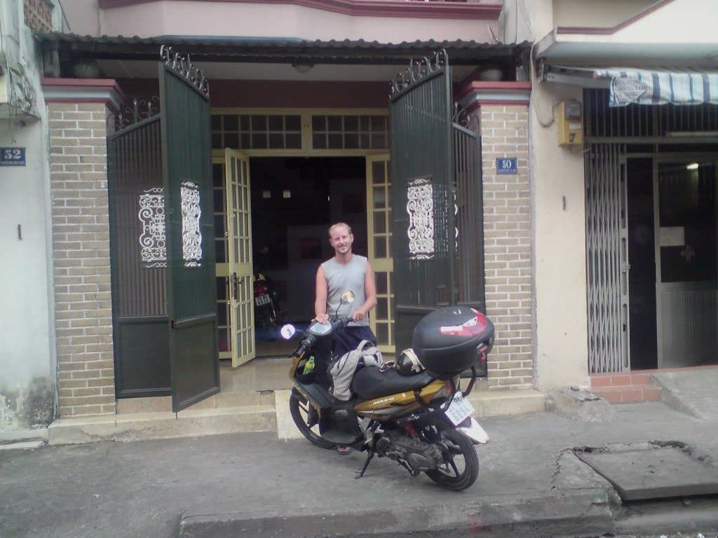 My GIVI Box & I, Saigon, Vietnam Coracle