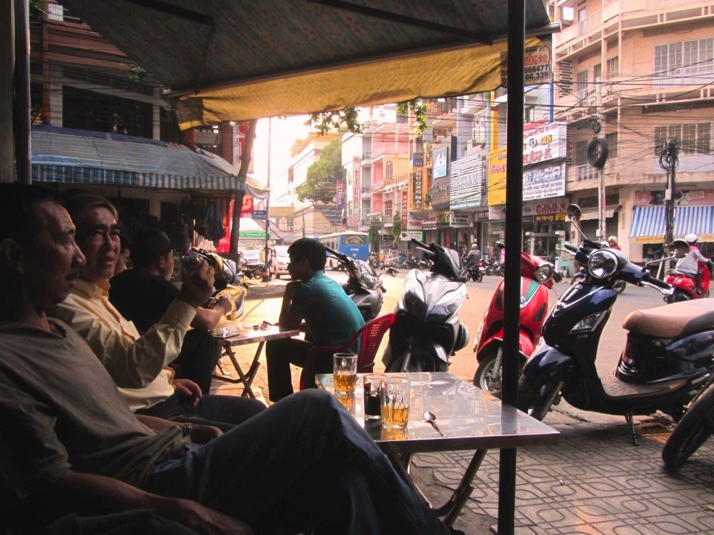 Local cafe in Buon Ma Thuot, Ho Chi Minh Road, Vietnam