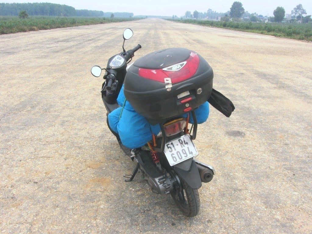 My GIVI Bike Box, Tom, Vietnam Coracle