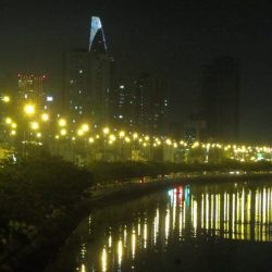 Night on Vo Van Kiet Expressway, Saigon