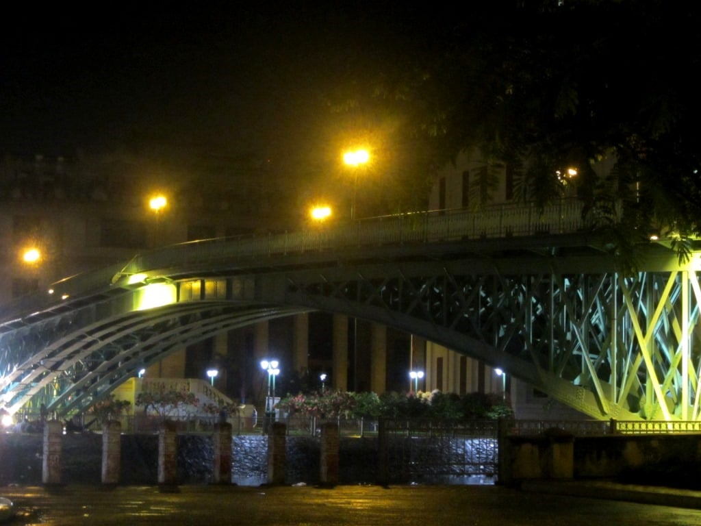 Mong Bridge at night, Saigon