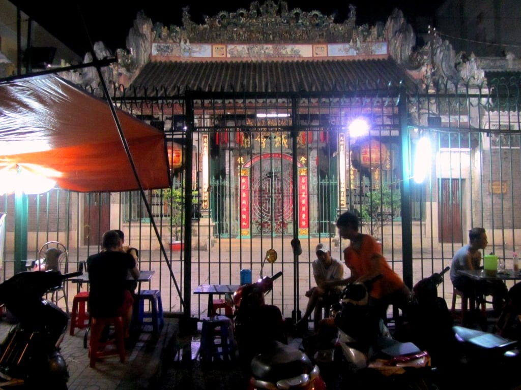Thien Hau Temple at night, Chinatown, Saigon