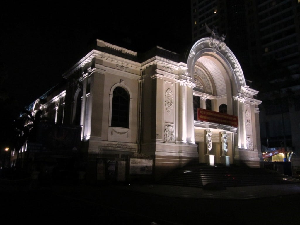 The city opera house at night, Saigon
