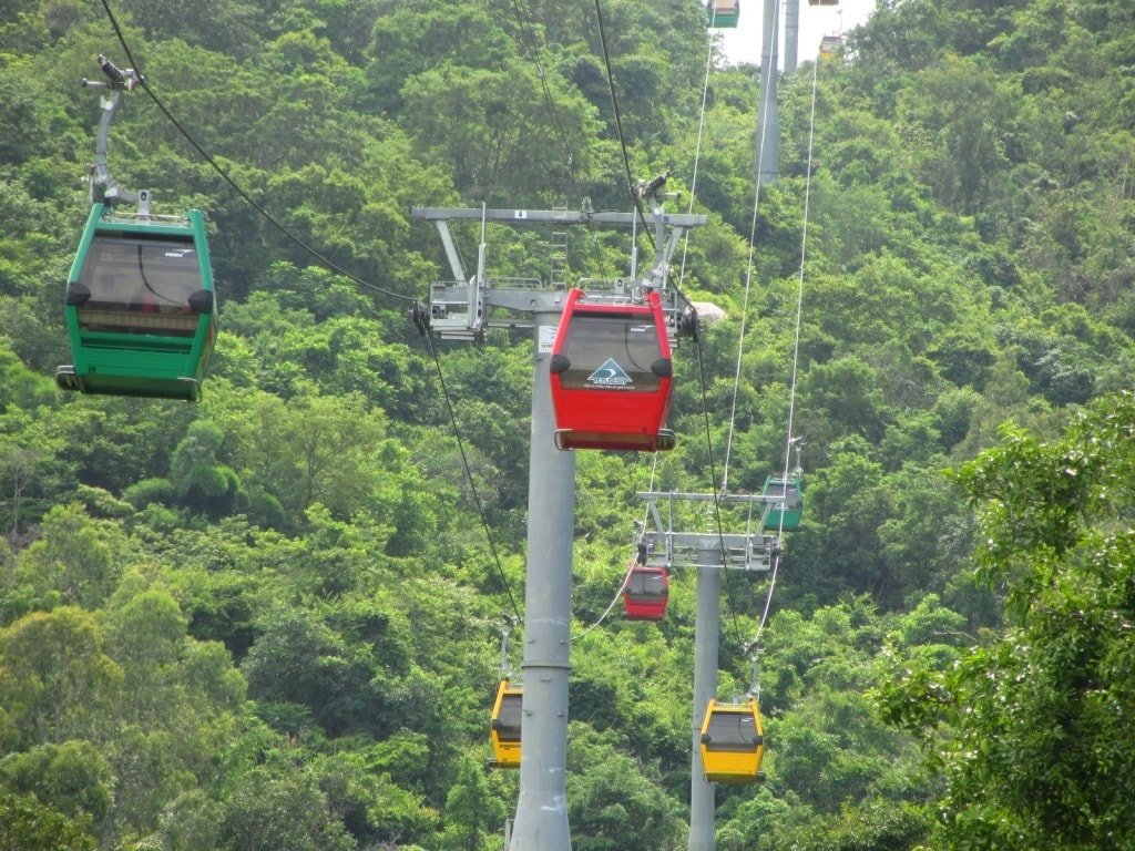 Cable car, Nui Cam Mountain, An Giang Province, Mekong Delta, Vietnam