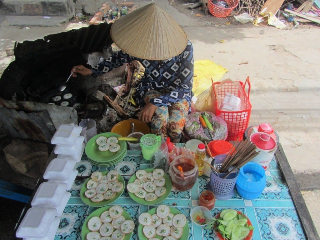 Street food lunch, An Giang Province, Mekong Delta, Vietnam
