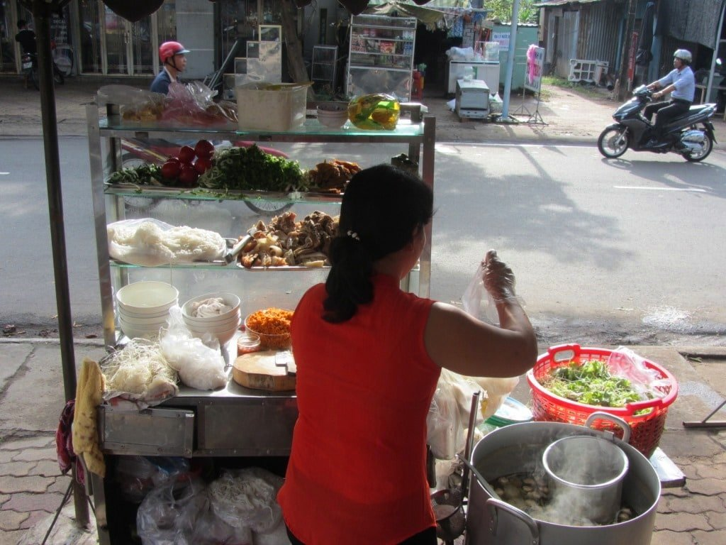 Street food in Phuoc Buu, Ba To, Vietnam