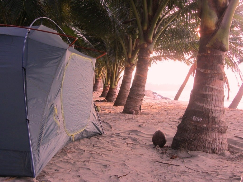 Camping on Ho Coc Beach, Vietnam