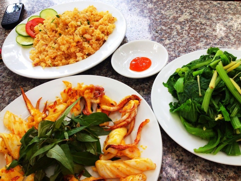 Food at Ven Ven Hotel, Ho Coc Beach, Vietnam