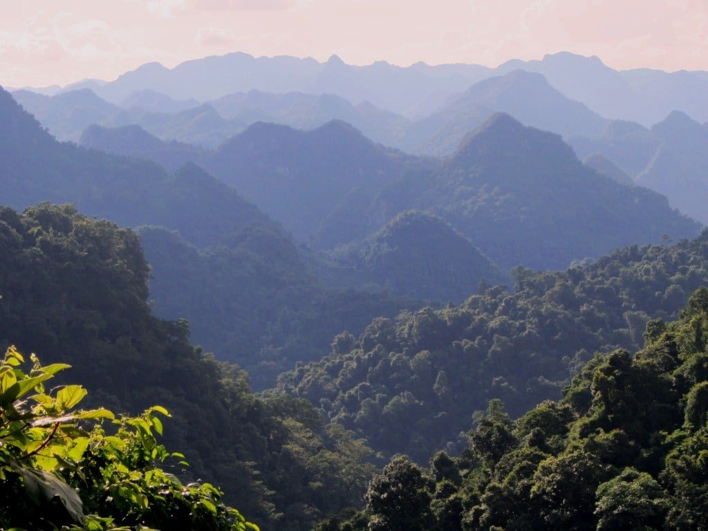 Limestone mountains, central Vietnam
