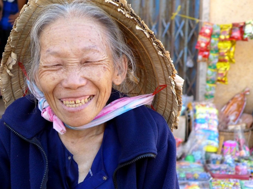 A woman in Central Vietnam