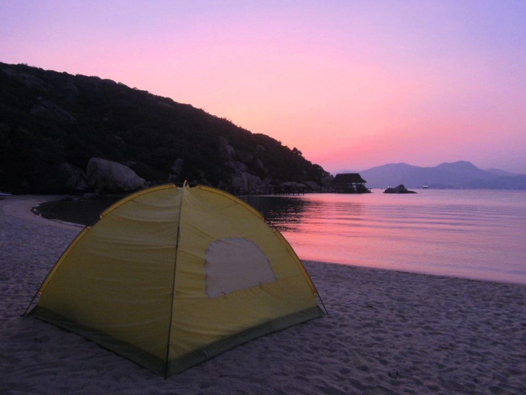 Camping at Ngoc Suong Yen Bay Resort, Vietnam