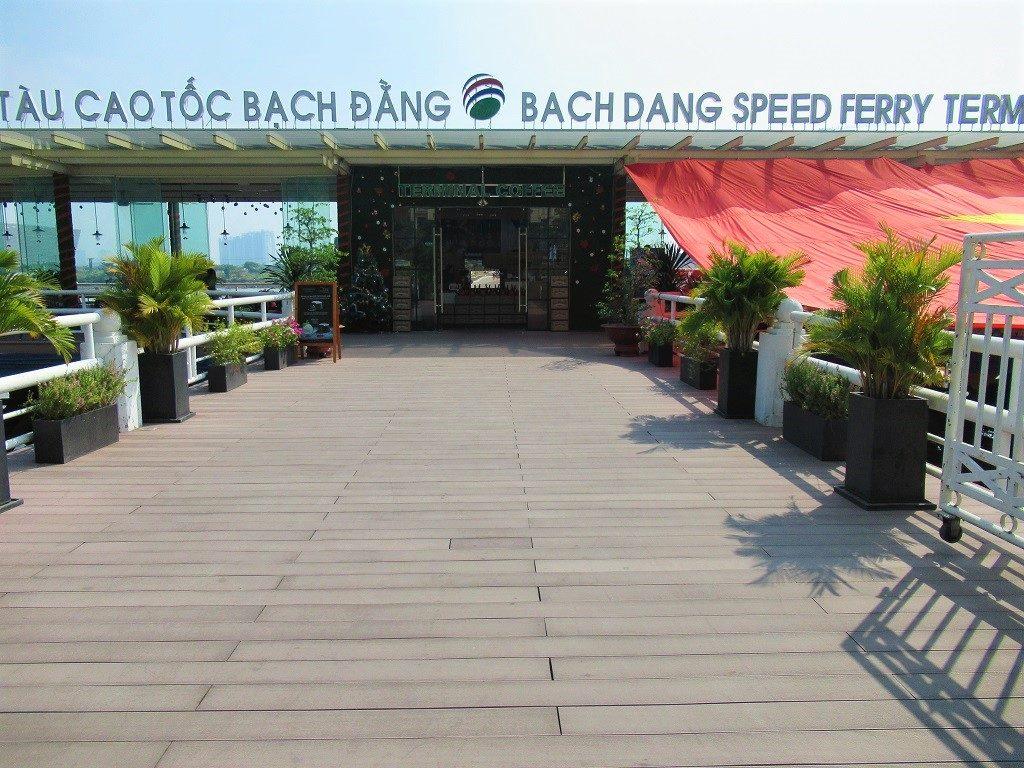 Greenlines ferry at Bach Dang Pier, Saigon, Vietnam