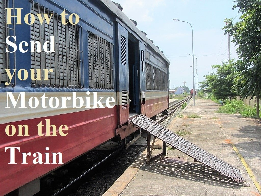 How to send a motorbike on the train, Vietnam