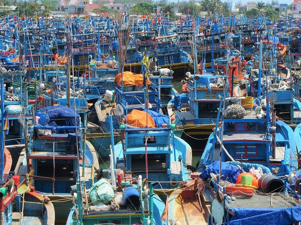 Fishing boats in Lagi, Vietnam