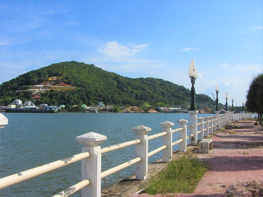 The Giang Thanh River waterfront, Ha Tien, Vietnam