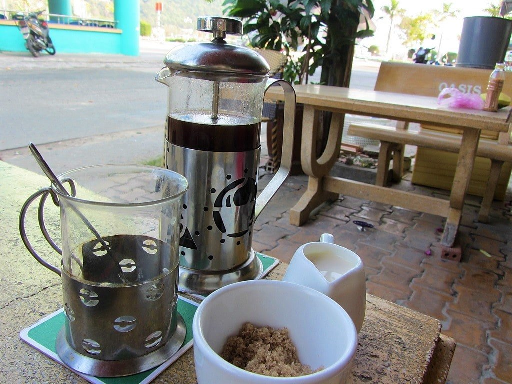 Coffee at Andy's Oasis Bar, Ha Tien, Mekong Delta, Vietnam