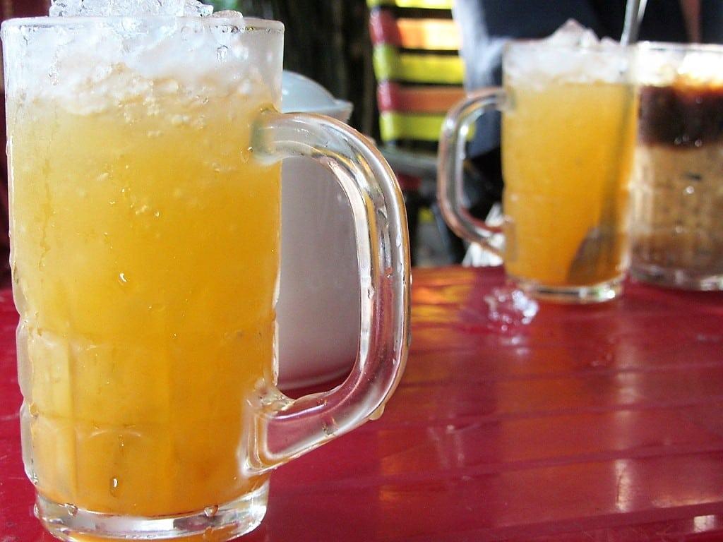 Fresh orange juice, Xuan Mai Cafe, Ha Tien, Vietnam