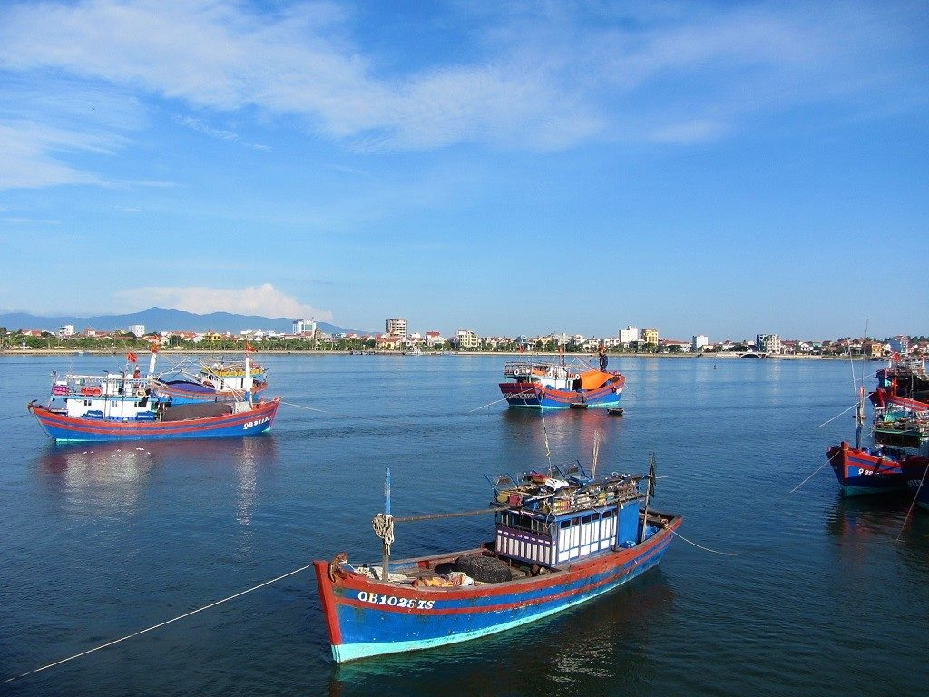Fishing boats in Dong Hoi, Vietnam