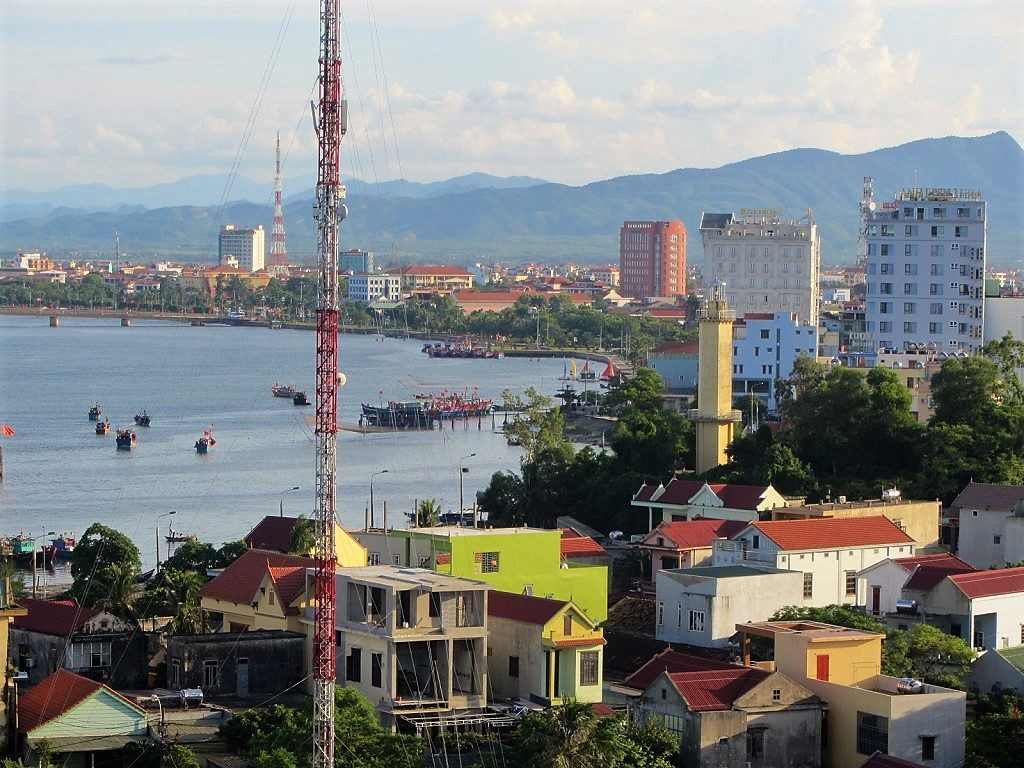 View of Dong Hoi city, Quang Binh Province, Vietnam