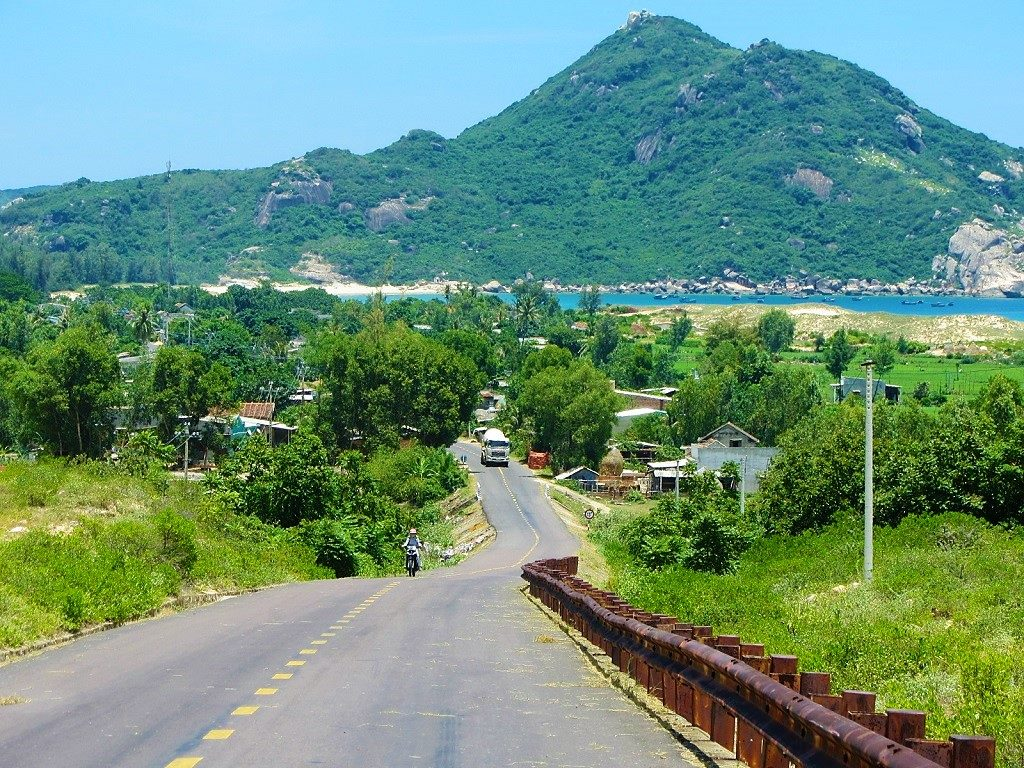 Coast road north of Quy Nhon, Binh Dinh Province, Vietnam