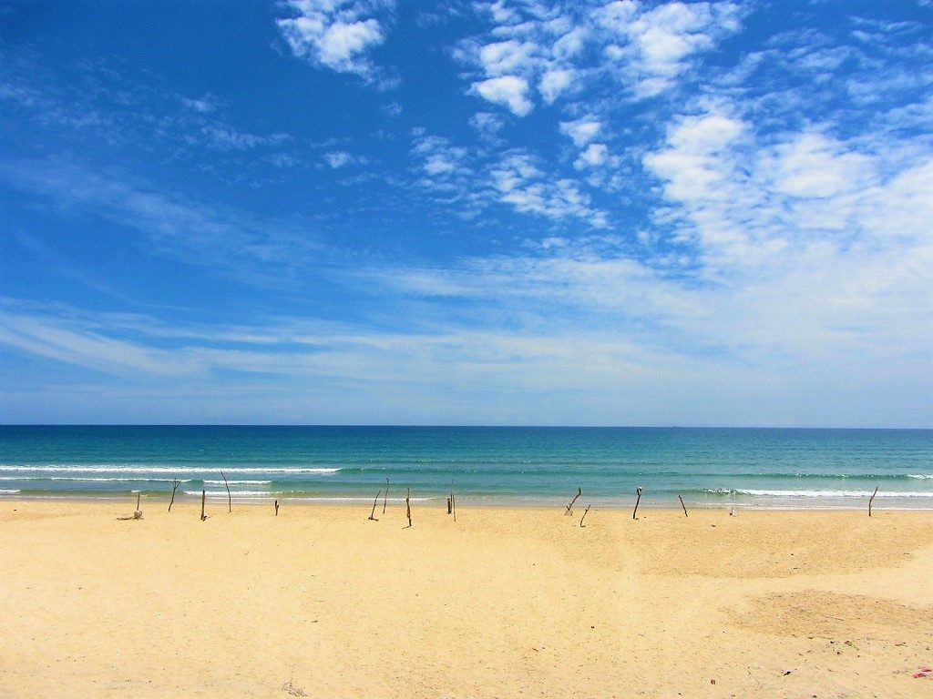 Empty beaches near Dong Hoi, Vietnam