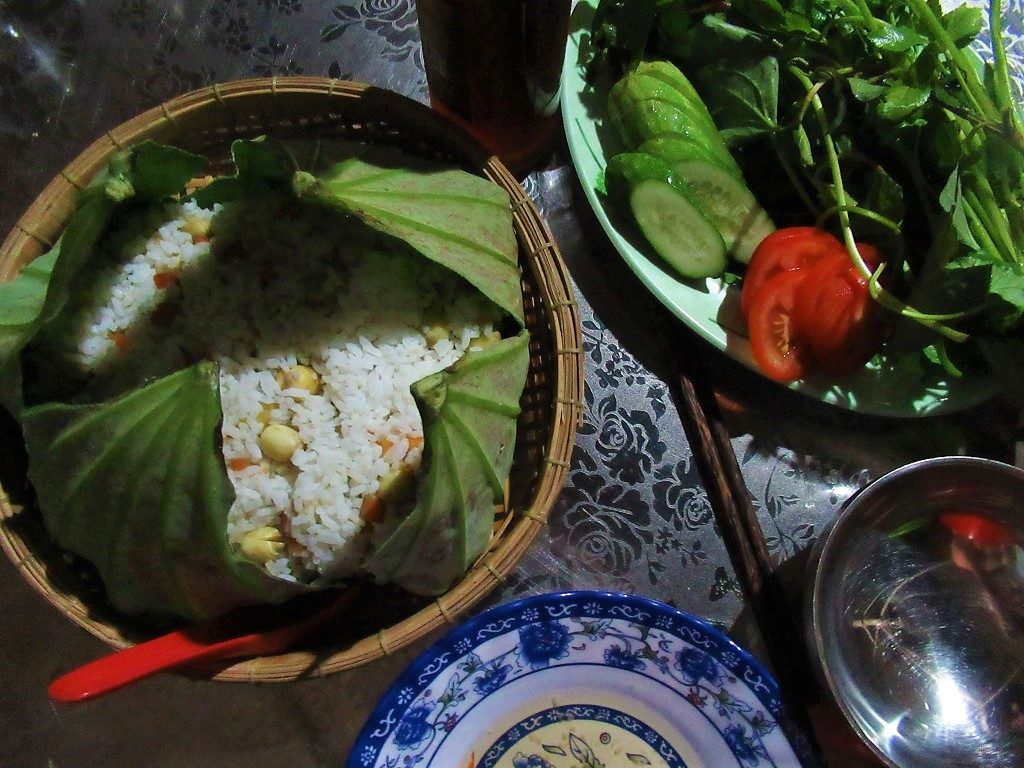 Dinner at the Floating Lotus Lake Homestays, Dong Thap Province, Mekong Delta