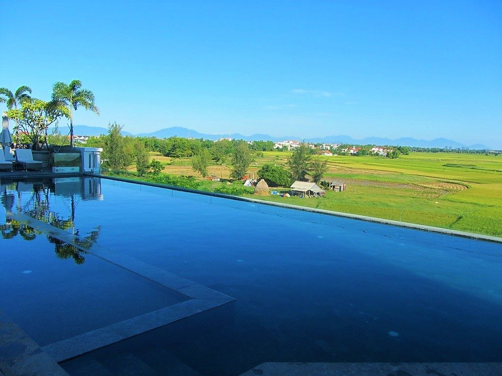 The infinity pool at Lasenta Boutique Hotel, Hoi An, Vietnam