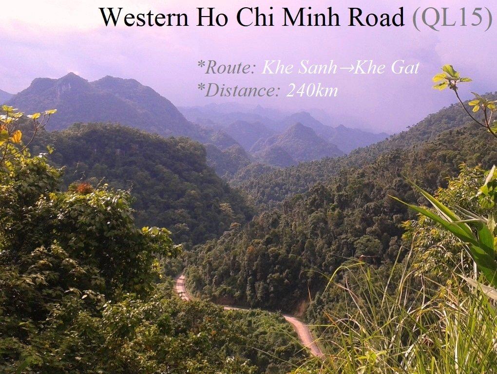 The Western Ho Chi Minh Road (QL15), Khe Sanh to Khe Gat, Vietnam
