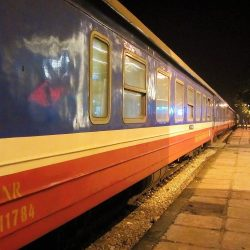 The Fanxipan Express: Hanoi to Lao Cai by Train (Passengers & Motorbikes)