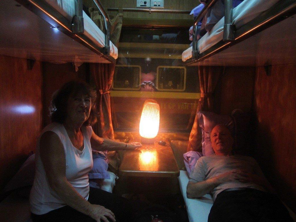 Fanxipan Express, 4-berth soft sleeper, Hanoi to Lao Cai, Vietnam