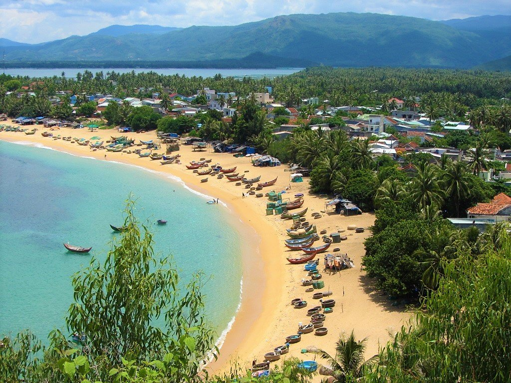 The beaches of the south-central coast, Vietnam